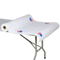40 inch x 300' Paper Table Cover with Party Pattern
