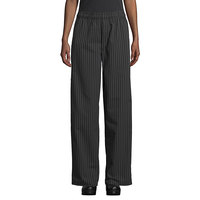 Uncommon Threads 4003 Unisex Black / White Pinstripe Customizable Yarn-Dyed Chef Pants - L