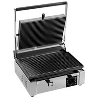 Eurodib CORT-R Panini Grill with Grooved Plates - 14 1/2 inch x 10 inch Cooking Surface - 110V, 1800W