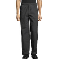 Uncommon Threads 4003 Unisex Gray Triple Pinstripe Customizable Yarn-Dyed Chef Pants - L