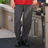 Uncommon Threads 4003 Unisex Black / Gray Houndstooth Customizable Yarn-Dyed Chef Pants - L