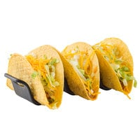 Tablecraft 10278BK Taco Taxi 5 3/4 inch x 2 3/16 inch x 1 9/16 inch Black Taco Holder with 2 or 3 Compartments