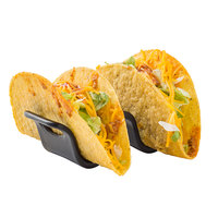 Tablecraft 10277BK Taco Taxi 3 1/2 inch x 2 3/16 inch x 1 9/16 inch Black Taco Holder with 1 or 2 Compartments