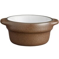 Acopa Embers 2.5 oz. Hickory Brown Matte Stoneware Sauce Cup - 36/Case