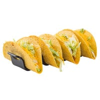 Tablecraft 10279BK Taco Taxi 7 11/16 inch x 2 3/16 inch x 1 9/16 inch Black Taco Holder with 3 or 4 Compartments
