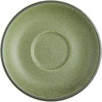 Acopa Embers 5 1/2 inch Moss Green Matte Stoneware Saucer - 24/Case