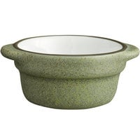 Acopa Embers 2.5 oz. Moss Green Matte Stoneware Sauce Cup - 36/Case