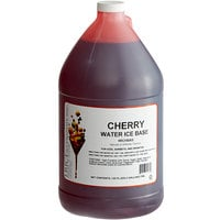 I. Rice 1 Gallon Cherry Water Ice Base - 4/Case