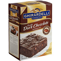 Ghirardelli 7.5 lb. Double Dark Chocolate Brownie Mix - 4/Case
