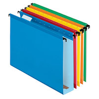 Pendaflex 6152X2 ASST SureHook Assorted Color Letter Size 1/5 Cut Extra Capacity Reinforced Hanging Folder - 20/Box