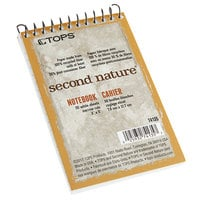 TOPS 74135 Second Nature 3 inch x 5 inch Narrow Rule Recycled Top Bound Memo Book
