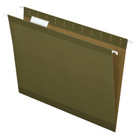 Earthwise by Pendaflex 4152 1/5 Green Recycled Fiber Letter Size 1/5 Cut Hanging Folder - 25/Box