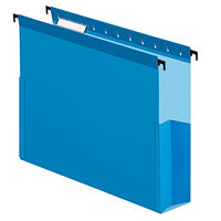 Pendaflex 59203 SureHook Blue Letter Size 1/5 Cut Hanging Box File - 25/Box