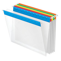 Pendaflex 55708 Assorted Color Letter Size Poly Hanging Folder - 25/Box