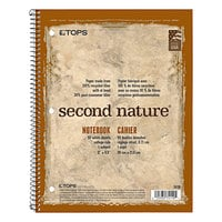TOPS 74111 Second Nature 8 1/2 inch x 11 inch College Rule Recycled 1-Subject Notebook
