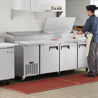 Avantco APPT-91-HC 91 inch 3 Door Refrigerated Pizza Prep Table