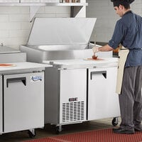 Avantco APPT-49-HC 49 inch 1 Door Refrigerated Pizza Prep Table