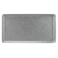 Front of the House DSP039ANS21 Mod 12 1/2 inch x 8 1/4 inch Rectangular Antique Finish Stainless Steel Plate - 4/Case