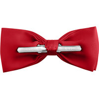Henry Segal Scarlet 2 inch Wide Clip-On Poly-Satin Bow Tie