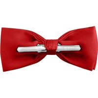 Henry Segal Red 2 inch Wide Clip-On Poly-Satin Bow Tie