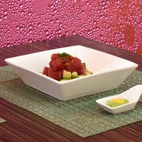 Front of the House DBO064WHP23 Kyoto 26 oz. Bright White Square Porcelain Bowl - 12/Case