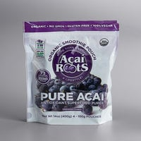 Acai Roots 3.5 oz Unsweetened Organic Acai Berry Puree Pouch - 64/Case