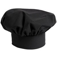 Uncommon Threads 0100 Black Customizable Poplin Chef Hat