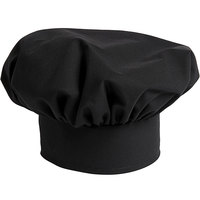 Uncommon Threads 0150 Black Customizable Twill Chef Hat