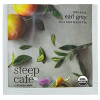 Steep Cafe By Bigelow Organic Earl Grey Tea Pyramid Sachets - 50/Case