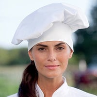 Uncommon Threads 0150 White Customizable Twill Chef Hat