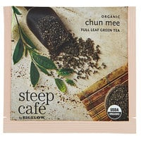 Steep Cafe By Bigelow Organic Chun Mee Green Tea Pyramid Sachets - 50/Case