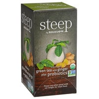 Steep By Bigelow Organic Green Tea with Ginger and Probiotics Tea Bags - 18/Box