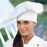 Uncommon Threads 0100 White Customizable Poplin Chef Hat