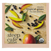 Steep Cafe By Bigelow Organic Tropical Green Tea Pyramid Sachets - 50/Case