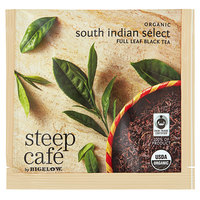 Steep Cafe By Bigelow Organic South Indian Select Black Tea Pyramid Sachets - 50/Case