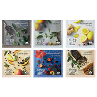 Steep Cafe by Bigelow Organic Assorted Case Tea Pyramid Sachets - 60/Case