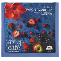Steep Cafe By Bigelow Organic Wild Encounter Herbal Tea Pyramid Sachets - 50/Case