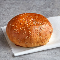 LeBus 4 1/4 inch Country White Sesame Hamburger Sandwich Roll - 72/Case