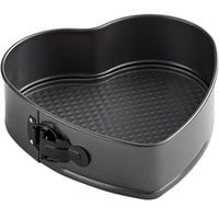 Wilton 2105-419 9 inch x 2 3/4 inch Non-Stick Steel Heart-Shaped Springform Cake Pan