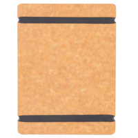 Cal-Mil 2034-57-14 5 inch x 7 inch Natural Menu Board with Flex Bands