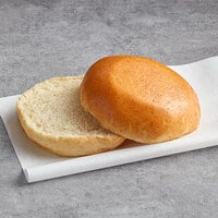LeBus 4 1/4 inch Sliced Country White Hamburger Sandwich Roll - 72/Case
