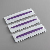 Wilton 417-1154 9 inch Plastic Decorating and Icing Comb Set - 3/Pack