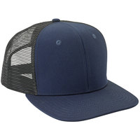 Mercer Culinary Navy Blue Customizable 6-Panel Chef Trucker Cap with Mesh Back