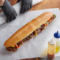 LeBus 16 inch Steak Sandwich Hoagie Roll   - 24/Case