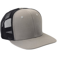 Mercer Culinary Gray Customizable 6-Panel Chef Trucker Cap with Mesh Back