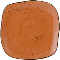Tuxton GGC-502 TuxTrendz Artisan Geode Coral 11 inch Square China Plate - 12/Case