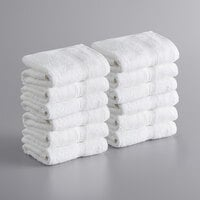 Lavex Lodging Premium 16 inch x 30 inch 100% Ring-Spun Cotton Hand Towel 4 lb.   - 12/Pack