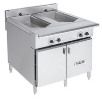 Vulcan VCS36D Double Well 36 inch Versatile Chef Station / Multifunctional Cooker - 208V, 3 Phase, 18 kW