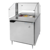Beverage-Air SPE27HC-SNZ Elite Series 27 inch 1 Door Refrigerated Sandwich Prep Table with Condiment Station Sneeze Guard