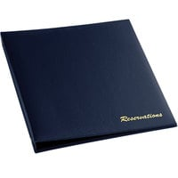 H. Risch RESBOOK-BL Blue Faux Leather Reservation Book